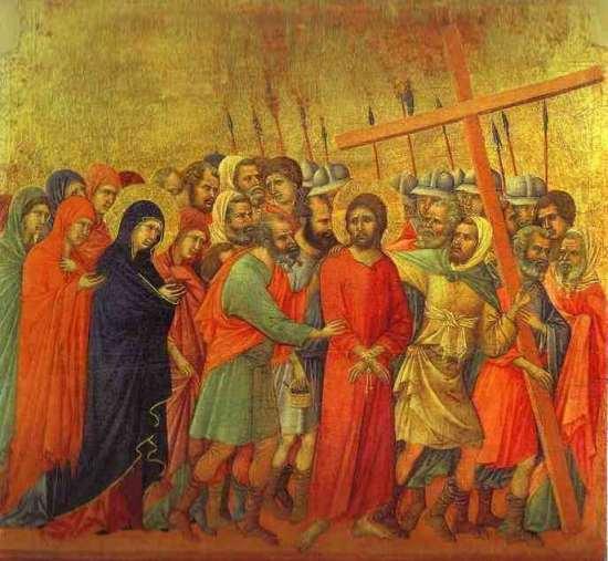Duccio di Buoninsegna, Le chemin du calvaire