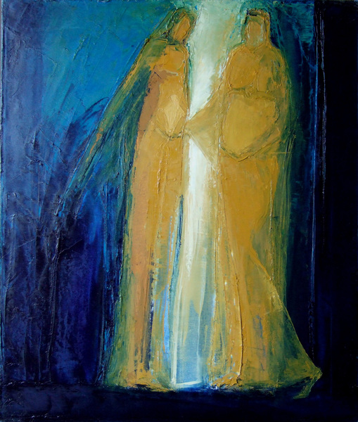 La Visitation, peinture de Macha Chamkoff