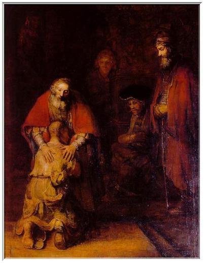 Rembrandt, le retour du fils prodigue